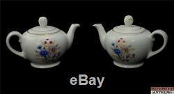 Set-28pc Tea Coffee Pots Tasses Arabia Finlande Chine Vtg Fleurs Sauvages Sprays Couleur