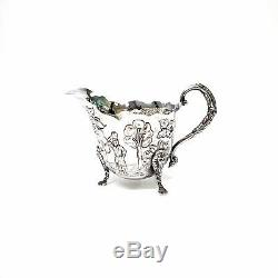 Set # 6742 Vintage Royal Irish Argen De Strl Slv Dairymaid Thé Et Café