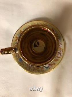 Set Capodimonte Vintage Cappuccino Avec Cafetière. Servit 12. Jamais Utilisé