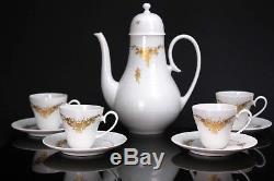 Set De Café 10pc Vintage En Porcelaine Rosenthal, Allemagne, Motif Rose Classique