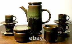 Sic Ceramiche Casale Monferrato Servizio Caffè Ceramica 1960 Ensemble De Café Vintage
