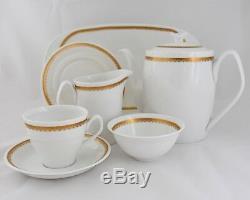 Spode Tea Pot Café Set Élisabéthaine Vintage Chine Sucre Creamer Y7842 20 Pièces