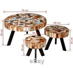 Table Basse Industrielle Vintage En Métal Massif Avec Dessus De Meuble