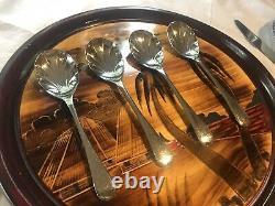 Tableaux Rétro Tablecape Vintage Dîner Set Avec Assiettes, Bols, Verres Et Café