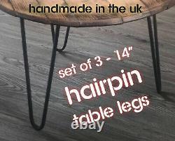 Tables Basses Hairpin Legs / Ensemble De 3 / Vis Circulaires /gratuites + Protecteurs De Plancher