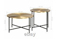 Tables De Chevet Industrielles Rondes De Table De Café Réglées De Meubles Vintage Jambes En Métal