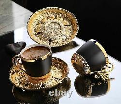 Tasses À Café Et Soucoupe 12pcs Turc Espresso Porcelaine Demitasse Vintage Set