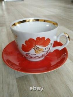 Thé Décor De Porcelaine De Café De L'urss Baranovka Porselain Soviet Russe