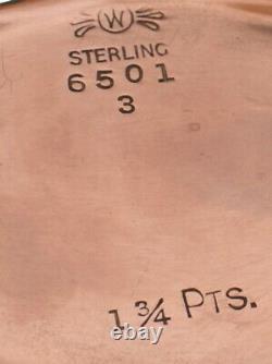 Très Nice Vintage Argent Sterling Frank M. Whiting Co. 3 Pièces Cafe & Tea Set