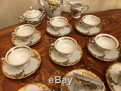 Vintage 12 Tasses 12 Soucoupe En Porcelaine Kpm Set Café