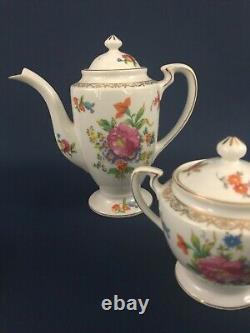 Vintage 17 Pièces Noritake Morimura Porcelaine Après Dîner Plateau De Café 1920s 1930s