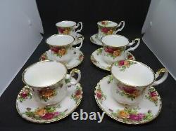 Vintage 1960's Royal Albert Old Country Roses Coffee Set En Parfait État