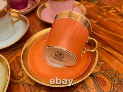 Vintage 21 Tasses 22 Soucoupes Danish Royal Copenhagen First Sort Coffee Set