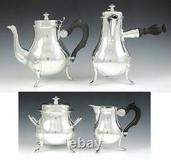 Vintage 4pc Français 950 Sterling Silver Georgian Style Tea Coffee Set