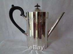 Vintage 4pc Set Lunt Colonial Classic Silverplate Cafetière Théière Creamer Suga