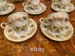 Vintage 5 Tasses 5 Saucers Allemand Weimar Josefine Full Mocca Cafe Set