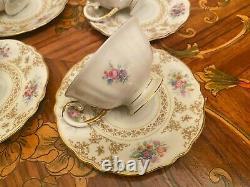 Vintage 6 Tasses 6 Saucers Allemand Krautheim Selb Bavaria Porcelaine Cafetière