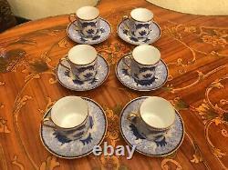Vintage 6 Tasses 6 Soucoupes Arabia Finland Porcelain Coffee Set