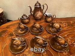 Vintage 6 Tasses 6 Soucoupes Bavière Allemande Creidlitz Porcelain Coffee Set