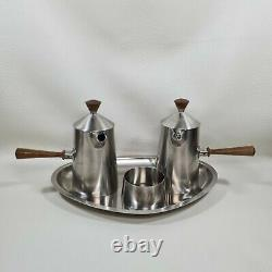 Vintage 70's Robert Welch Old Hall Campden Stainless Steel Coffee Set