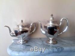 Vintage 950 Sterling Silver-4pctea Et-café-set-japon