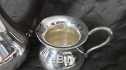 Vintage Allemand Emil Herrmann, Waldstetten Argent Massif 3 Pcs. Set Moka / Café