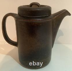 Vintage Arabia Wartsila Finlande Ruska Coffee Set 6 Tasses, Soucoupes Et Cafetière