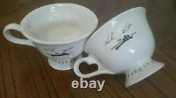 Vintage Baileys Irish Cream Yum Cups Set Winking Eye Face Mr & Mrs Coffee Mugs