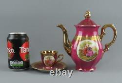 Vintage Bareuther Bavaria Fragonard Parcours Couples Demi Tasse Set De Café Pour 6