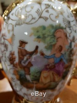 Vintage D'or En Porcelaine Fine Porcelaine Café / À Thé Fabriqué En République Démocratique Allemande Allemagne Bavière