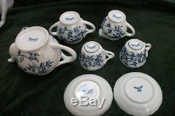 Vintage Danube Bleu À Thé En Porcelaine Service À Café Ruban Marquages reg. Pat S. U.. De