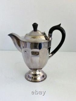 Vintage Epns Argent Plated Coffee & Tea Set 4 Pièces Sheffield Angleterre