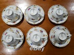 Vintage Fine China Café / Thé Set Fabriqué En République Démocratique Allemande Allemagne