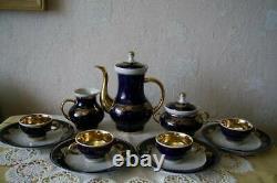 Vintage Fine Handmade De Haute Qualité Porcelaine Urss Mark Café Thé Maison 7 Set