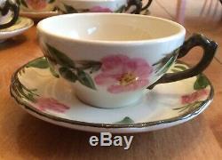 Vintage Franciscain Dessert Rose Angleterre Collectables Thé / Café Set Pour 12