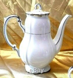 Vintage Gold China Baronnet Japon Footed Café Set Pot, Creamer & Sugar Tea Set