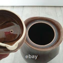 Vintage Holkham Poterie Café Poserez Les Yeux De Hibou Brown 6 Tasses 1 Carafes Sucre Pot Thé