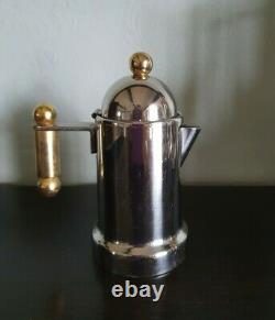 Vintage Inox 18/10 Italie Stovetop Espresso Cafetière Ensemble Complet Collectionnable