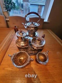Vintage Israel Freeman & Son Silver Plated Tea And Coffee Set
