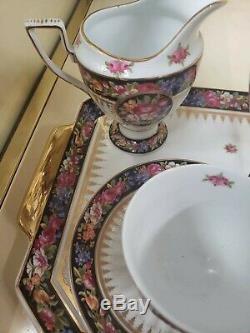 Vintage Limogo France Thé / Café Set Pour 2 250 $ +++ Worth