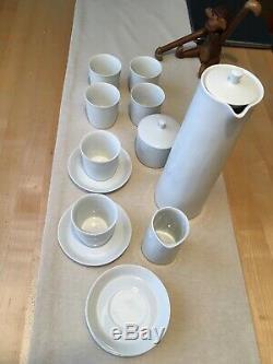 Vintage Lyngby Thermodan Café Set Danemark Chine Sucrier Creamer Coupes Soucoupe