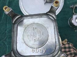 Vintage Manning Bowman & Co Metalware Café Percolateur Électrique / Ensemble De Service Urn