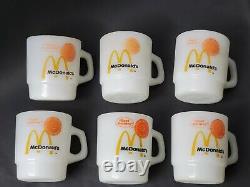Vintage Mcdonald's Fire King Tasses À Café Anchor Hocking Good Morning Set De 6