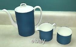 Vintage Mod. Wedgwood Pot À Café Avec Crème Et Sucre Set De Susie Cooper Design
