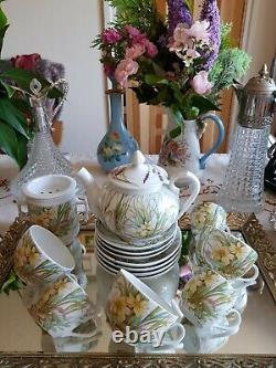 Vintage Molling Design Pillivuyt France Tea Cup / Set De Tasse À Café