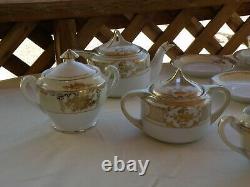 Vintage Noritake Hand Painted China Café / Thé Ensemble ///// Magnificent