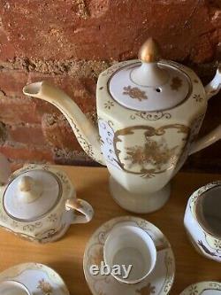Vintage Noritake Nippon Coffee Tea Pot Cup Soucoupe Sugar Creamer Hinode 13pc Ensemble