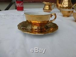 Vintage Or Bavaroise Bereuther Allemande Café 15 Pièces