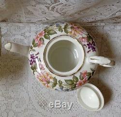 Vintage Paragon Country Lane 29 Piece Thé / Café Set Inc. Teapot & Coffee Pot