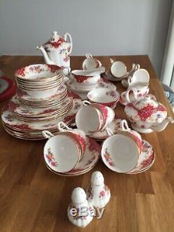 Vintage Paragon Dîner, Thé Et À Café Dans Le Modèle Rockingham